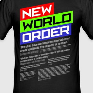 New World Order T-Shirt - Männer Slim Fit T-Shirt