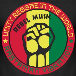 unity reggae in the world T-shirts - Slim Fit T-shirt herr