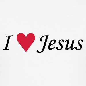 I love Jesus EN T-shirts - slim fit T-shirt