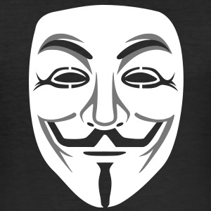 Anonymous/Guy Fawkes maske 2clr T-Shirts - Männer Slim Fit T-Shirt