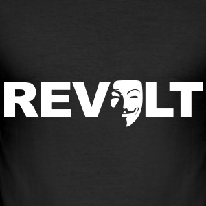 Revolt - Guy Fawkes - Men's Slim Fit T-Shirt