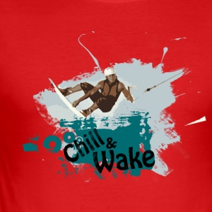 Chill and Wake 2 T-Shirt - Männer Slim Fit T-Shirt
