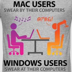 Mac Users 2 (dd)++ T-skjorter - Slim Fit T-skjorte for menn