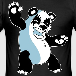 Panda Kiss T-shirts - Slim Fit T-shirt herr