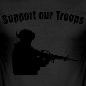 Support our Troops Tee shirts - Tee shirt près du corps Homme