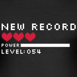 new record level 54 birthday design Geburtstag (dk) T-shirts - Herre Slim Fit T-Shirt