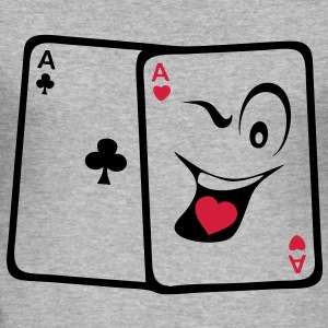 carte poker as paire smiley rigolo Tee shirts - Tee shirt près du corps Homme