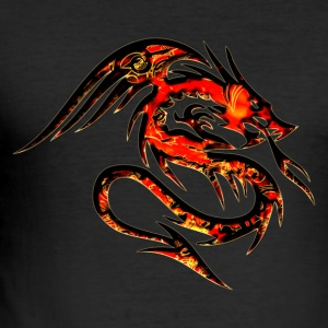 Feuer Drache, fire dragon, digital, rot T-shirts - slim fit T-shirt