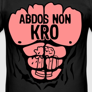 corps muscle abdos non kro1 Tee shirts - Tee shirt près du corps Homme