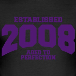 aged to perfection established 2008 (sv) T-shirts - Slim Fit T-shirt herr