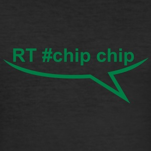 rt chip chip (1c) T-Shirts - Men's Slim Fit T-Shirt