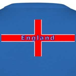 england st george flag white glow T-Shirts - Men's Slim Fit T-Shirt