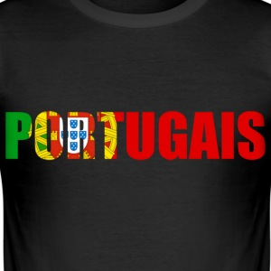 portugais T-shirts - Slim Fit T-shirt herr
