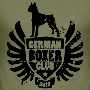 GERMAN BOXER CLUB 2012 T-Shirts - Männer Slim Fit T-Shirt