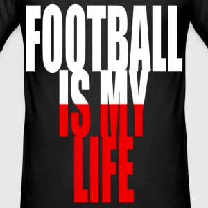football is my life pologne T-Shirts - Men's Slim Fit T-Shirt