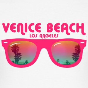 Venice Beach Los Angeles - Sonnenbrille T-Shirts - Männer Slim Fit T-Shirt