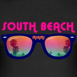 south beach miami T-shirts - slim fit T-shirt
