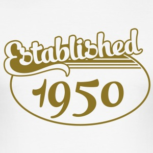 Birthday-Shirt - Geburtstag - Established 1950 (nl) T-shirts - slim fit T-shirt