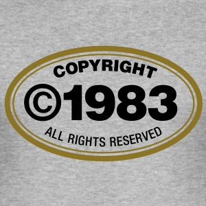 Copyright 1983 1 (2c)++ T-Shirts - Men's Slim Fit T-Shirt