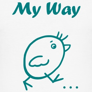 My Way T-Shirts - Männer Slim Fit T-Shirt