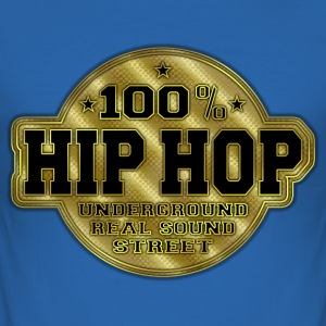 100% hip hop underground real sound street Tee shirts - Tee shirt près du corps Homme