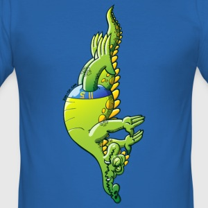 Olympic Diving Crocodile T-Shirts - Men's Slim Fit T-Shirt