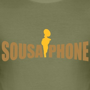 sousaphone T-Shirts - Männer Slim Fit T-Shirt