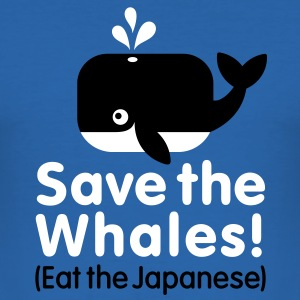 Save the Whales! Eat the Japanese Tee shirts - Tee shirt près du corps Homme