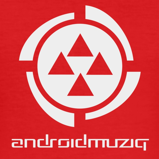 Android Muziq - Light Grey logo on Red