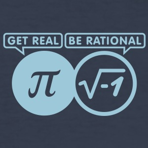 get real - be rational (1c) T-Shirts - Men's Slim Fit T-Shirt