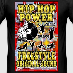 hip hop power freestyle original sound T-Shirts - Men's Slim Fit T-Shirt