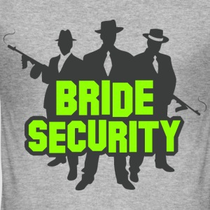 Bride Security 1 (dd)++ T-Shirts - Männer Slim Fit T-Shirt