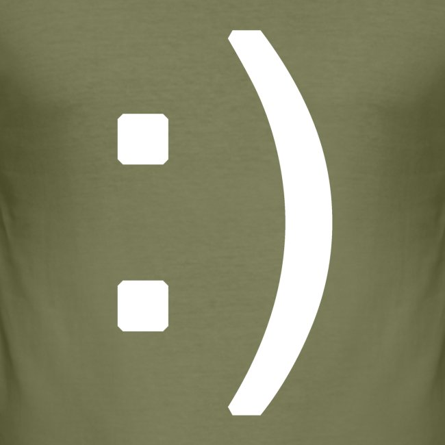 Happy smiley face in text