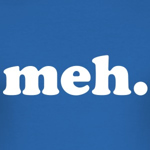 meh. - Slim Fit T-skjorte for menn