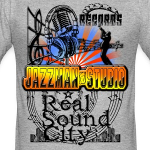 records jazzman studio real sound city Tee shirts - Tee shirt près du corps Homme