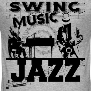 swing music jazz T-Shirts - Men's Slim Fit T-Shirt