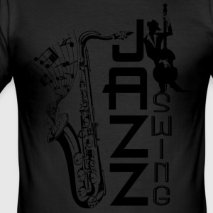 jazz swing T-Shirts - Men's Slim Fit T-Shirt