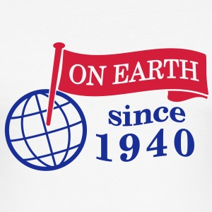 flag on earth since 1940  2c (dk) T-shirts - Herre Slim Fit T-Shirt