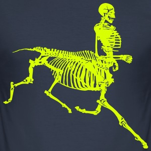 centaur skeleton - Men's Slim Fit T-Shirt