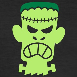 Angry Halloween Frankenstein T-Shirts - Men's Slim Fit T-Shirt