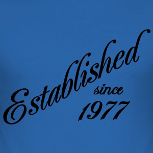 Established since 1977 T-shirts - Herre Slim Fit T-Shirt