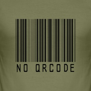 barcode no QR code icon by patjila T-shirts - slim fit T-shirt