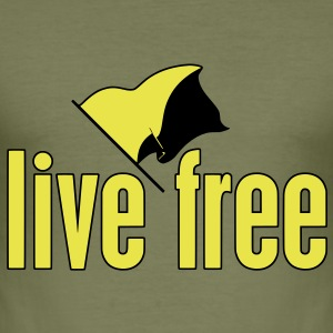 Live Free T-Shirt - Männer Slim Fit T-Shirt