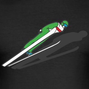 ski jumper T-Shirts - Men's Slim Fit T-Shirt