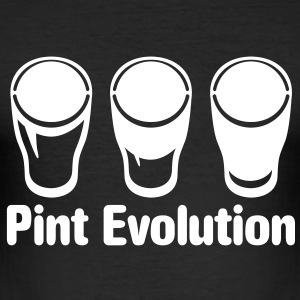 Pint Evolution - Bierglas Shirt - Männer Slim Fit T-Shirt