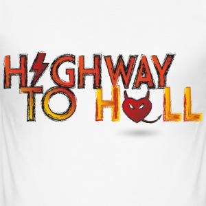 Highway to hell T-Shirts - Männer Slim Fit T-Shirt