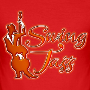 swing jazz  T-Shirts - Men's Slim Fit T-Shirt