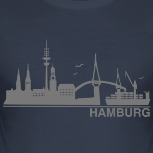 Hamburg Skyline - Männer Slim Fit T-Shirt