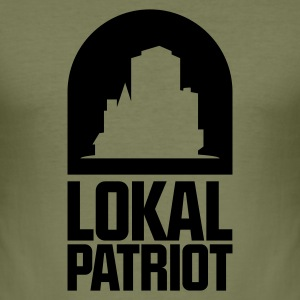 Lokalpatriot Stadt T-Shirts - Männer Slim Fit T-Shirt