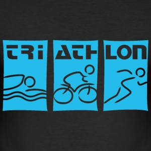 Triathlon cyan T-Shirts - Männer Slim Fit T-Shirt